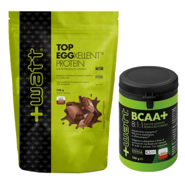 +WATT TOP EGGXELLENT PROTEIN 750 gr + AMINOACIFI RAMIFICATI 8:1:1 811 KYOWA in vendita su Nutribay.it