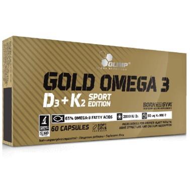 OLIMP SPORT NUTRITION GOLD OMEGA 3 D3 + K2 SPORT EDITION 60 caps in vendita su Nutribay.it
