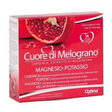 OPTIMA NATURALS CUORE DI MELOGRANO - MAGNESIO POTASSIO 14 bustine in vendita su Nutribay.it