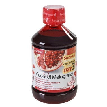 OPTIMA NATURALS CUORE DI MELOGRANO SUCCO CON OXY3 500 ml in vendita su Nutribay.it