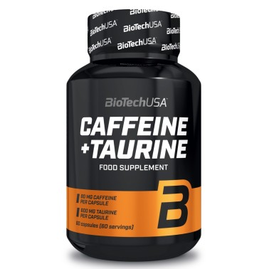 BIOTECH USA CAFFEINE + TAURINE 60 caps in vendita su Nutribay.it