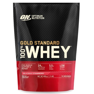 ON OPTIMUM NUTRITION 100% WHEY GOLD STANDARD 450 gr in vendita su Nutribay.it