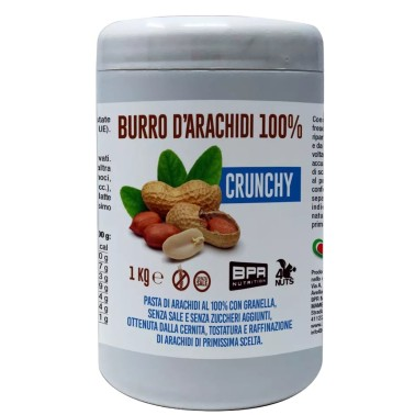 BPR NUTRITION Burro D'Arachidi 100% CRUNCHY 1 kg in vendita su Nutribay.it