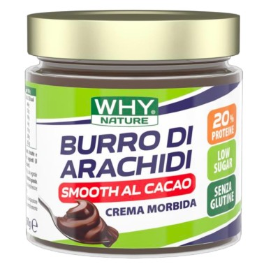 WHY NATURE BURRO DI ARACHIDI CACAO SMOOTH 350 gr in vendita su Nutribay.it