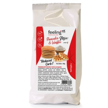 FEELING OK PANCAKE & WAFFLE MIX START 1 - 400 gr in vendita su Nutribay.it