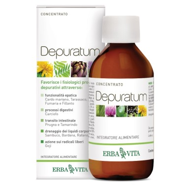 ERBA VITA DEPURATUM CONCENTRATO 200 ml in vendita su Nutribay.it