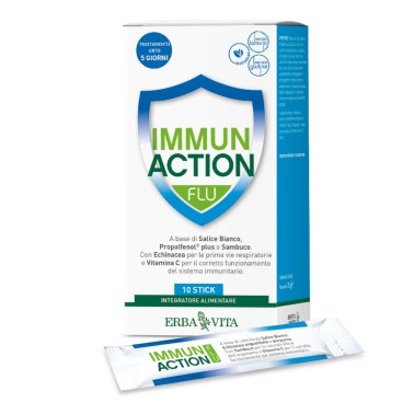 ERBA VITA IMMUN ACTION FLU 10 stick in vendita su Nutribay.it