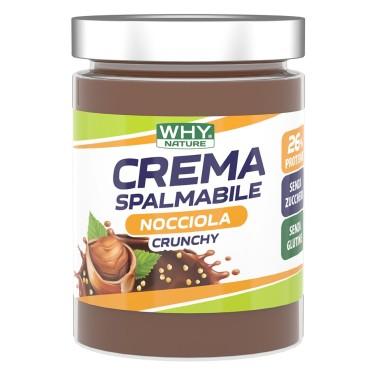 WHY NATURE CREMA SPALMABILE NOCCIOLA CRUNCHY 300 gr in vendita su Nutribay.it
