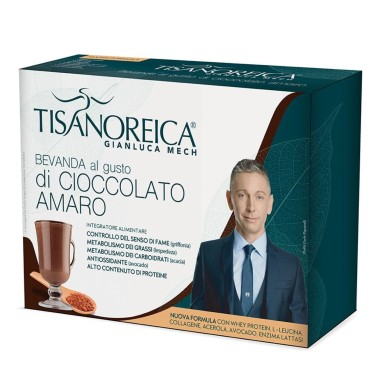 TISANOREICA BEVANDA CIOCCOLATO AMARO 4 BUSTE PAT DA 34 gr in vendita su Nutribay.it