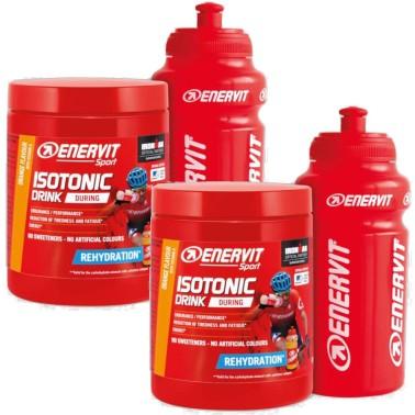 Enervit Isotonic Drink Sali Minerali Potassio Magnesio 2 X 420 gr + Borraccia in vendita su Nutribay.it