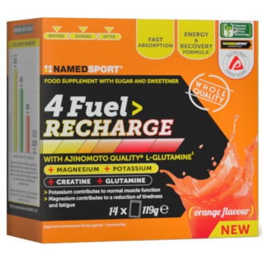 NAMED SPORT 4FUEL RECHARGE - 14 bustine monodose in vendita su Nutribay.it