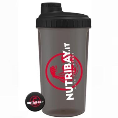 NUTRIBAY SHAKER NERO ( TRASPARENTE ) 700 ml in vendita su Nutribay.it