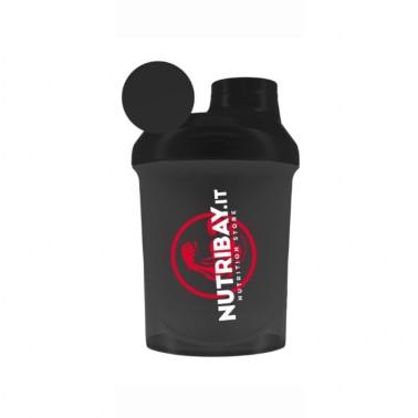 NUTRIBAY SHAKER NANO NERO ( TRASPARENTE ) 300 ml in vendita su Nutribay.it