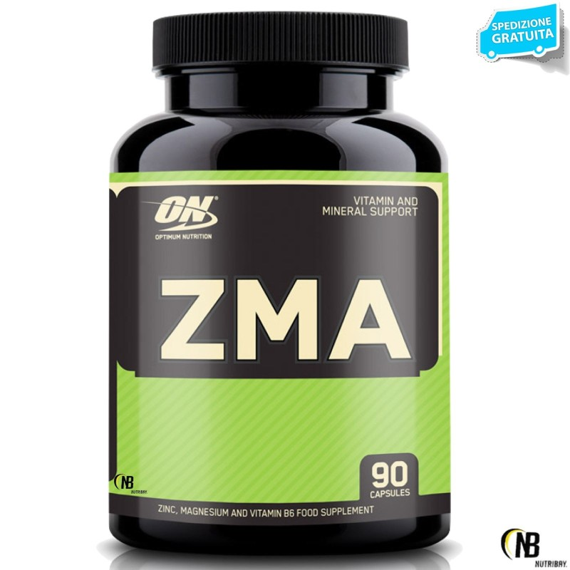 ON Optimum Nutrition ZMA 90 cps. Zinco Magnesio e Vitamina B6 Tonico in vendita su Nutribay.it
