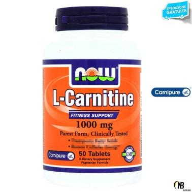 Now Foods Carnitine Tartrate 1000 mg 50 tabs Carnitina Tartrato da 1 gr.